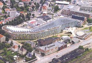 Vista dall'alto dell'Agenzia federale per l'ambiente di Dessau