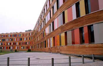 Agenzia federale dell'ambiente di Dessau, facciata orientale