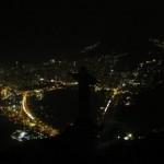 Il Cristo Redentore di Rio durante l'Earth Hour