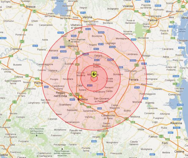 Effetto del terremoto del 29 maggio 2012