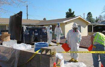 Una decontaminazione da mercurio realizzata dall'Epa in Nevada